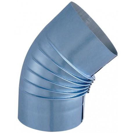 Coude Plisse Aluminie 45° D125Mm