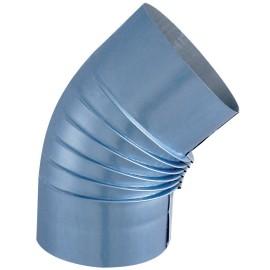 Coude Plisse Aluminie 45° D153M