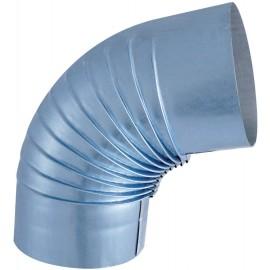 Coude Plisse Aluminie 72° D125Mm