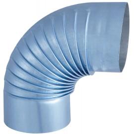 Coude Plisse Aluminie 90° D125Mm