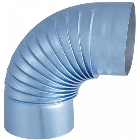 Coude Plisse Aluminie 90° D153Mm