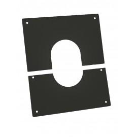 Plaque Propreté Apollo Dp Noir 40X40 D80Mm