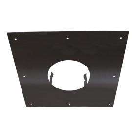 Plaque Propreté Clipinox Noir 30X30 D150Mm