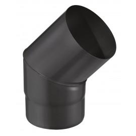 Coude 45° Email 1.2mm Noir Diamètre 125