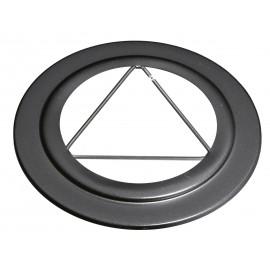 Rosace Noir 3T 2mm Diamètre 150