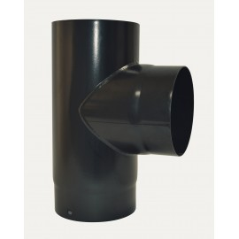 Te 90° + Tampon Noir 2mm Diamètre 130