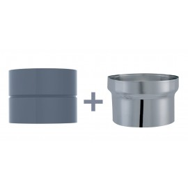 Manchette D/Buse Femelle/Femelle Email 0.7mm Gris Diamètre 140/150