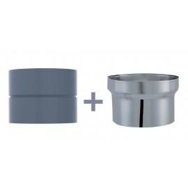 Manchette D/Buse Femelle/Femelle Email 0.7mm Gris Diamètre 150