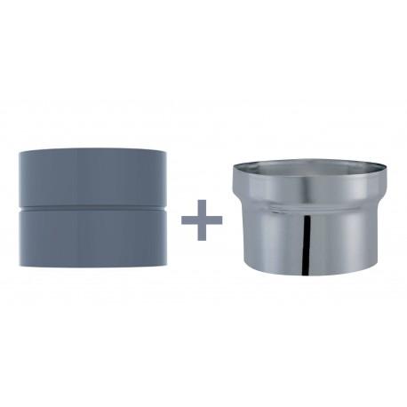 Manchette D/Buse Femelle/Femelle Email 0.7mm Gris Diamètre 180