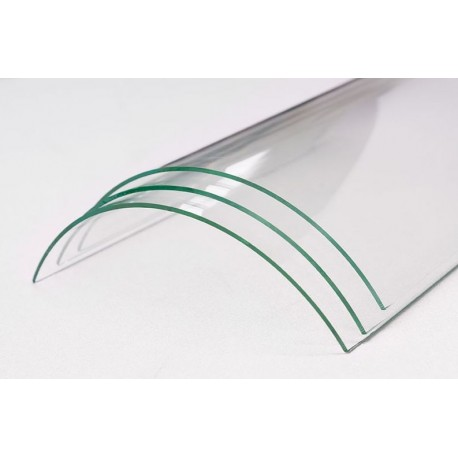 Verre vitrocéramique courbe pour insert et poele à bois de la marque BARBAS - Eco 400/410