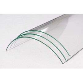 Verre vitrocéramique courbe pour insert et poele à bois de la marque FONTEFLAMME -