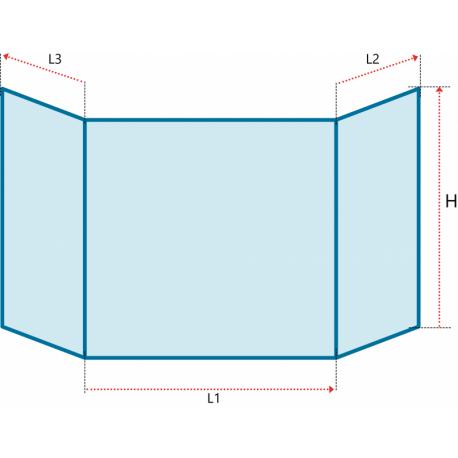 Verre vitrocéramique prismatique pour insert et poele à bois de la marque BK OFENBAU - Saphir  - Ref PCV-120350-P4