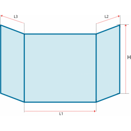 Verre vitrocéramique prismatique TECHFIRE - Uni-4060 + Prisma 2 + Andromeda - Ref PCV-63+390-P60