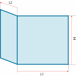 Verre vitrocéramique prismatique pour AUSTROFLAMM -  - Ref PCV-334508-PP2