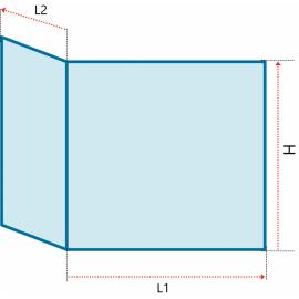 Verre vitrocéramique pliée pour TOTEM - Lateral 900 - Ref PCV-767506-PP32