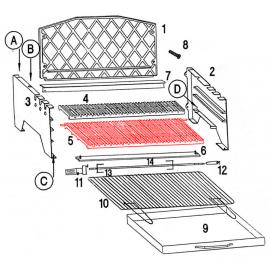 Grande grille pour barbecue Invicta Alexandrie - Ref F706805P