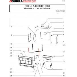 Joint de porte long 415mm Tresse Plat - Supra Réf 16973