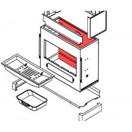Panneau arrière 512x114x808 fonte grise BNr 023A 0000 091 - Olsberg