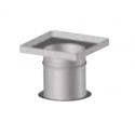 Plaque plénum étanche réglable 200 à 350 mm poêle pellets concentrique
