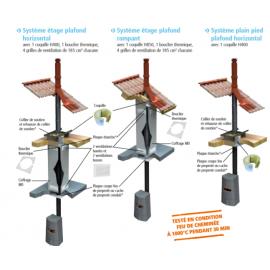 Système plain pied plafond horizontal DP isolé