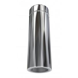 Elément de finition 500 mm SP diamètre 80 / DP diamètre 100 tubage poêle à pellets double paroi isolé