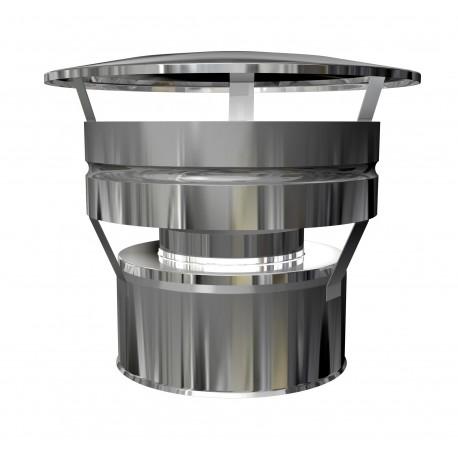 Chapeau aspirateur tubage poêle à pellets double paroi isolé