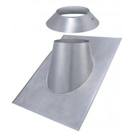 Solin inox ardoise + Larmier tubage poêle à pellets double paroi isolé