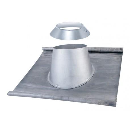 Solin plomb + Larmier poêle à pellets double paroi isolé