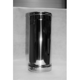 Tuyau 0,50m DP isolé inox 304/304