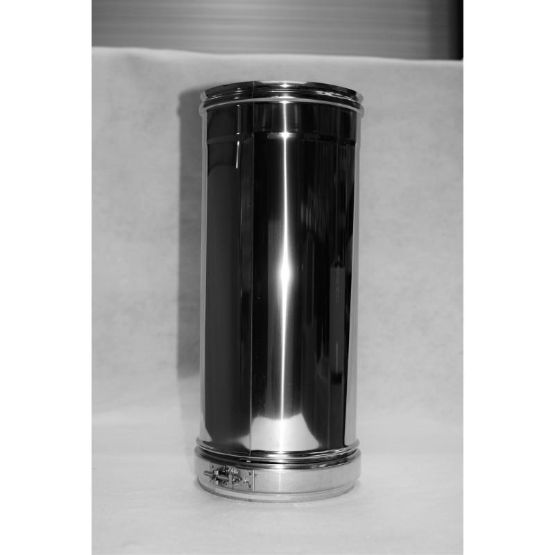 longueur droite 1 m double paroi isol e pour tubage conduit double paroi isol 25 mm tubest. Black Bedroom Furniture Sets. Home Design Ideas