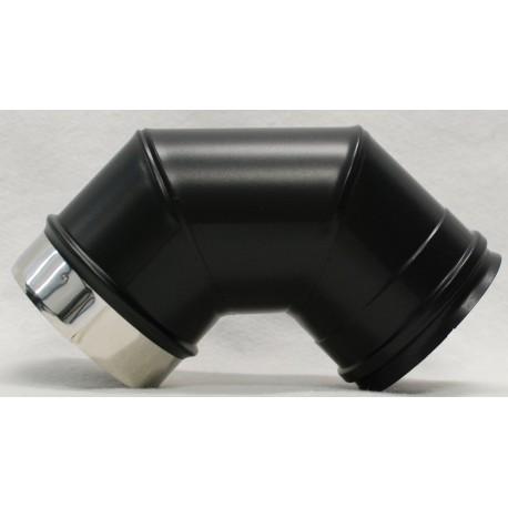 Coude 90° concentrique inox noir mat