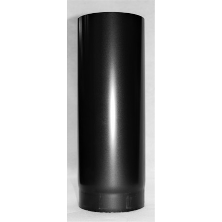 longueur droite 1 m acier noir 2 mm pour conduit simple. Black Bedroom Furniture Sets. Home Design Ideas