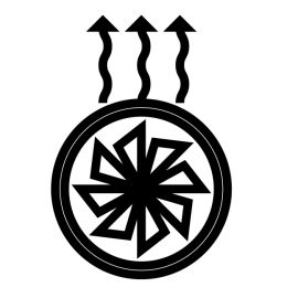 Ens. Grille De Ventilateur -Peint Gris pour poele à bois Deville