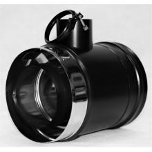 Elément d'amenée d'air 90° noir mat piquage mâle SP diamètre 60mm