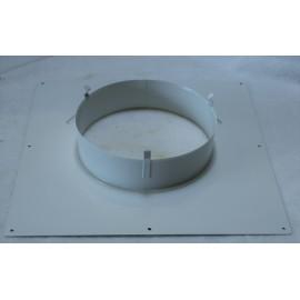 Plaque de propreté carrée 40*40 blanche