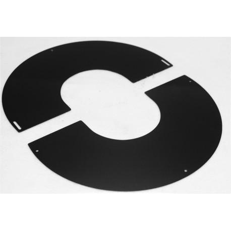 Plaque de propreté noir mat inclinable inox pente 0 à 10°