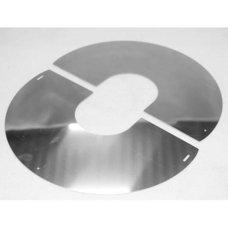Plaque de propreté inclinable inox pente 0 à 10°
