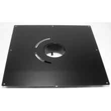Plaque de propreté carrée 40*40 noire