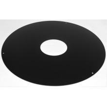 Plaque de propreté ronde noir mat dn 500mm pour terminal horizontal