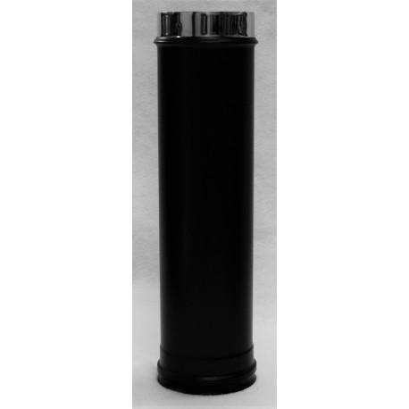 Tuyau 0,50m concentrique noir mat inox 316/304