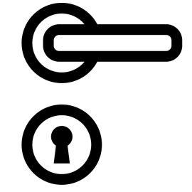 Poignee De Porte Chrome - Supra Réf 84117