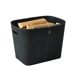 Rangement Bois/Granules Feutrine Noir Felt - Ref DN-005.1402