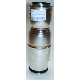 Raccord tuyau poêle dn80 /flexible universel pour plaque de propreté