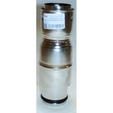 Raccord tuyau poêle dn100 /flexible universel pour plaque de propreté