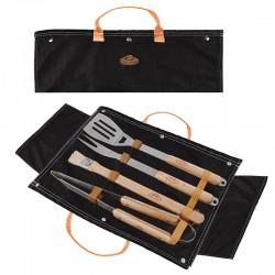 Set outils pour barbecue, sac jean