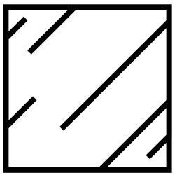 Vitre Prismatique Saphir - Supra Réf 16570 207+412+207x495x4