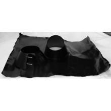 Solin inox noir mat pente 30 à 45° avec collet base plomb