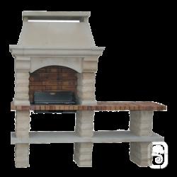 Barbecue Rustique grand modèle Et Table Ton Blanc