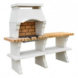 Barbecue Deco Hotte petit modèle + 1 Table Sur Cote Ton Blanc