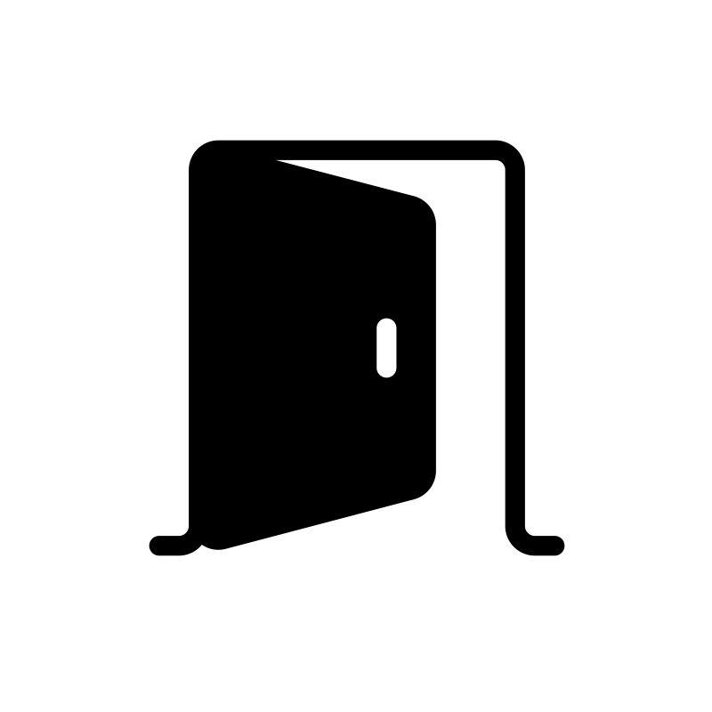 Porte+Chape P.Ass.601 L Noir SUPRA